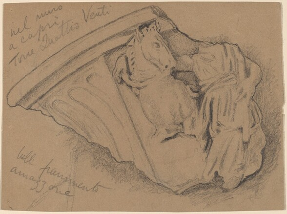Sketch of a Fragment from a Wall in Capri