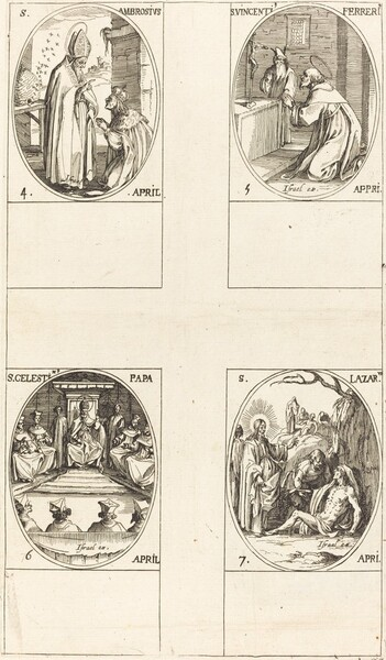 St. Ambrose; St. Vincent Ferrer; St. Celestin; St. Lazarus