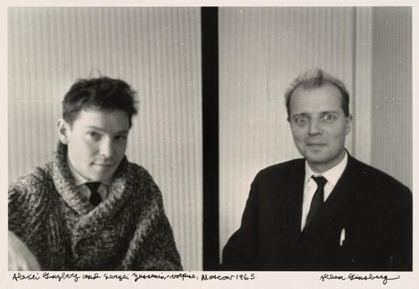 Alexei Ginzberg and Sergei Yesenin-vulpine, Moscow 1965.