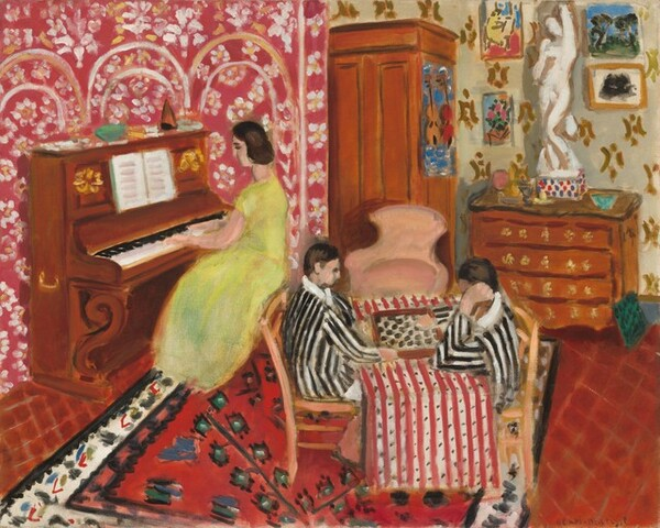 Pianist and Checker Players