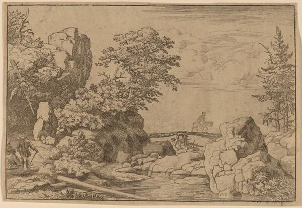 Horseman on a Bridge