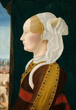 Ercole de' Roberti, Ginevra Bentivoglio, c. 1474/1477c. 1474/1477