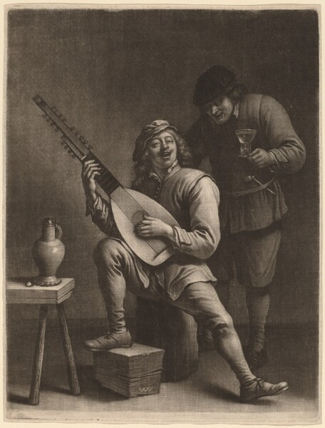 The Lute Player and the Drinker