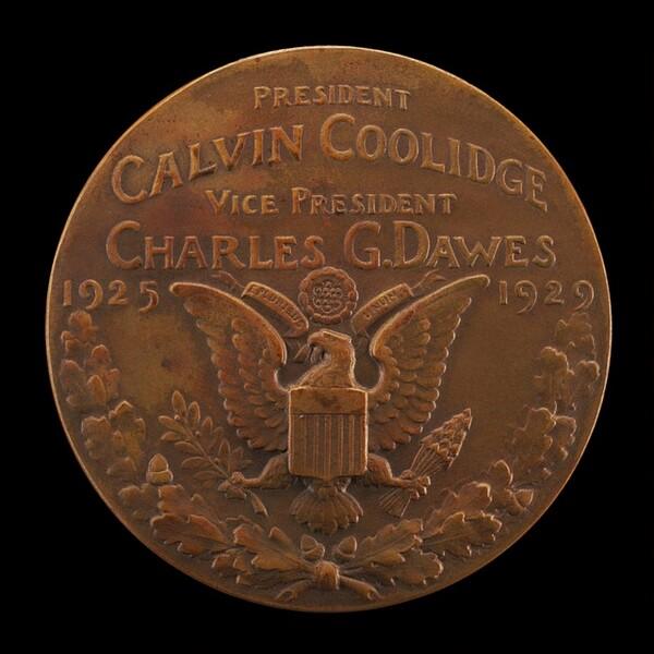 Calvin Coolidge Inaugural Medal [reverse]