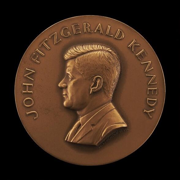 John Fitzgerald Kennedy Inaugural Medal [obverse]