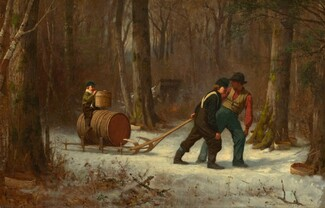 Eastman Johnson, On Their Way to Camp, 18731873