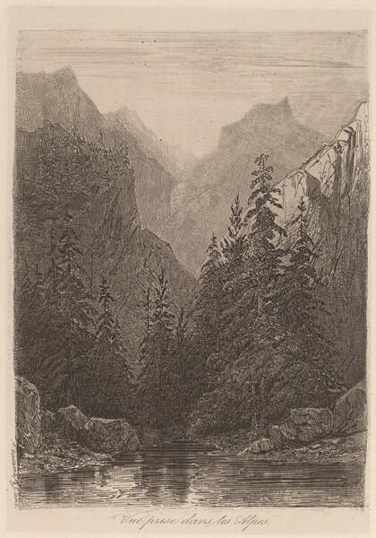 Vue prise dans les Alpes