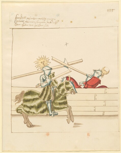 Freydal, The Book of Jousts and Tournament of Emperor Maximilian I: Combats on Horseback (Jousts)(Volume II): Plate 103