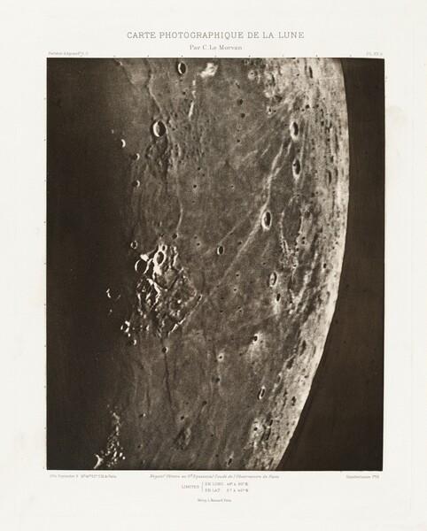 Carte photographique de la lune, planche XV.A (Photographic Chart of the Moon, plate XV.A)