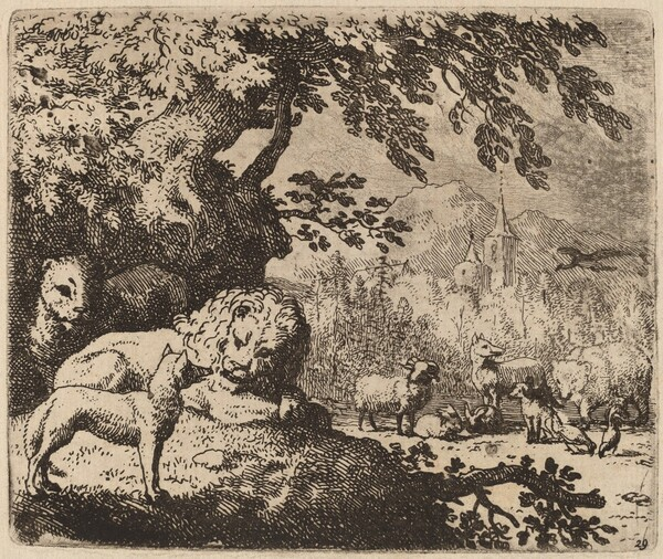 Reynard in Council with the Lion and Lioness