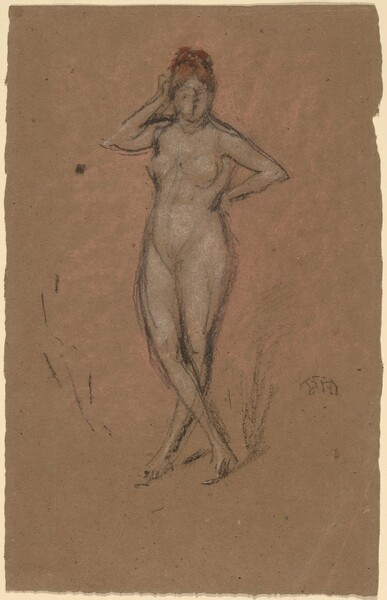 Nude Standing with Legs Crossed