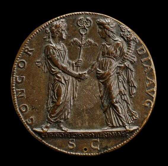 Cristoforo di Geremia, Constantine and the Church [reverse], c. 1468c. 1468