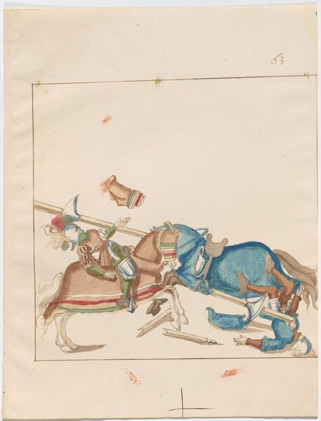 Freydal, The Book of Jousts and Tournaments of Emperor Maximilian I: Combats on Horseback (Jousts)(Volume I): Plate 59