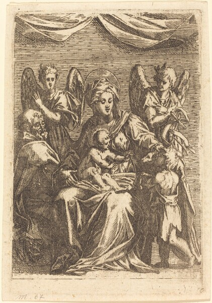 The Holy Family with Two Angels