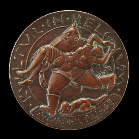 Kultur in Belgium Medal: Murder and Pillage [reverse]