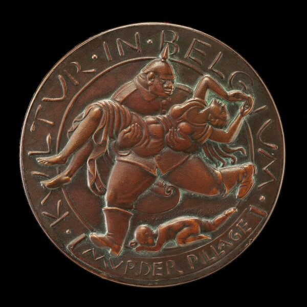 Kultur in Belgium Medal: Murder and Pillage [reverse]