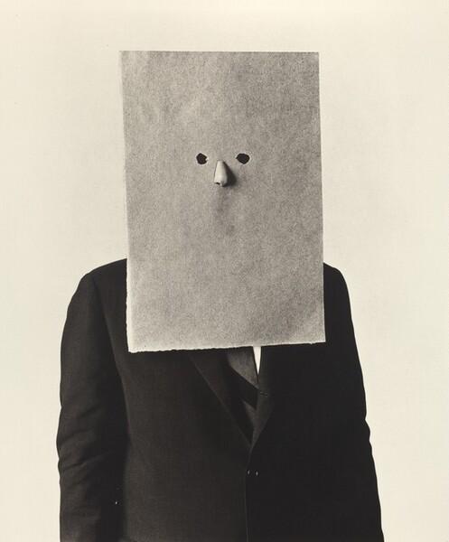 Steinberg in Nose Mask, New York