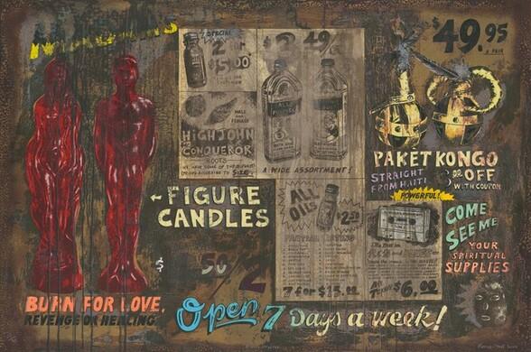 <p>Renée Stout, Hand Print Workshop International, Burn for Love, 2000