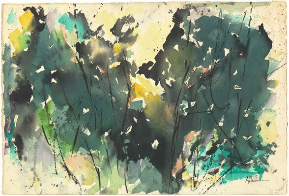 <p>Alma Thomas, Winter Shadows, c. 1960