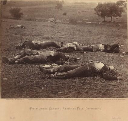 Timothy H. O'Sullivan, Field Where General Reynolds Fell, Gettysburg, July 5, 1863, July 5, 1863