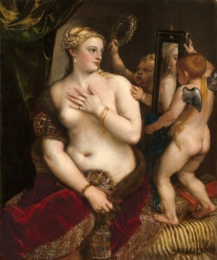 Titian, Venus with a Mirror, c. 1555