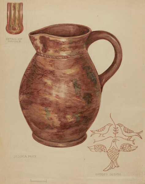 Red Earthenware Pitcher