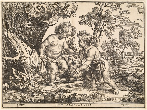 The Infant Christ and Saint John Playing with the Lamb