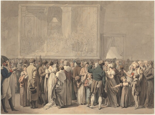 The Public in the Salon of the Louvre, Viewing the Painting of the Sacre