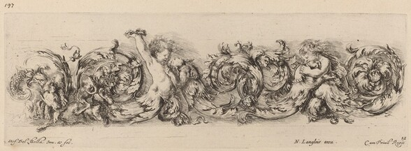 Ornamental Frieze with Children and Dogs