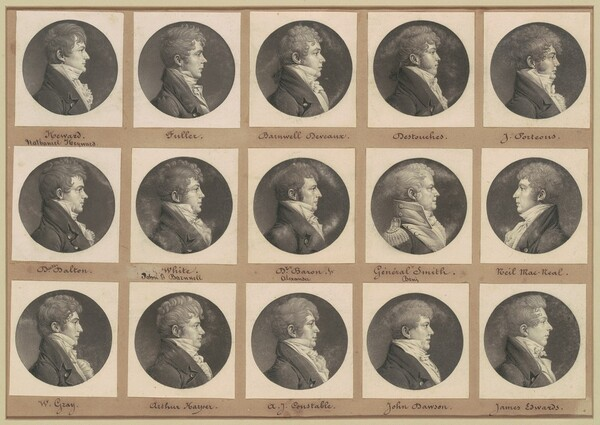 Saint-Mémin Collection of Portraits, Group 45