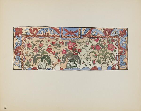 Plate 23: Painting on Buckskin, Laguna: From Portfolio Spanish Colonial Designs of New Mexico