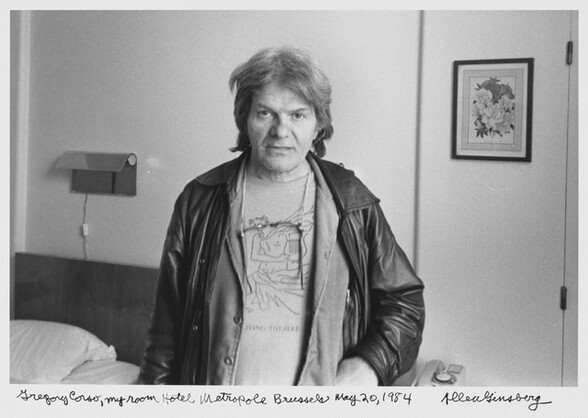 Gregory Corso, my room Hotel Metropole Brussels May 20, 1984