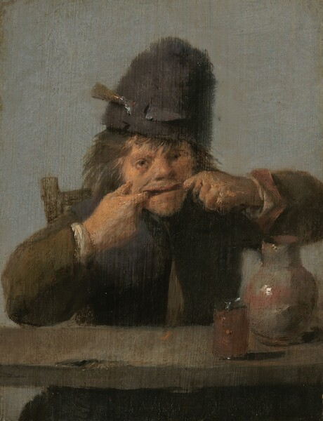 <p>Adriaen Brouwer, Youth Making a Face, c. 1632/1635