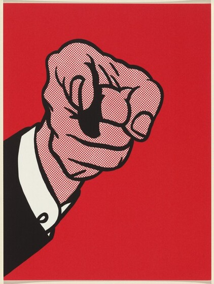 Roy Lichtenstein, Styria Studio, Experiments in Art and Technology, Finger Pointing, 19731973