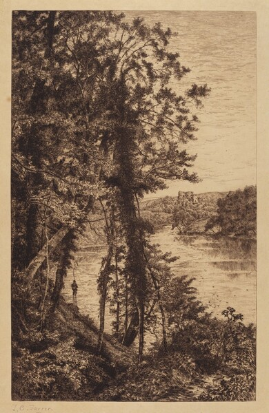 Untitled (Landscape with Fisherman)