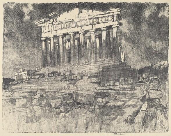 The Facade of the Parthenon, Sunset