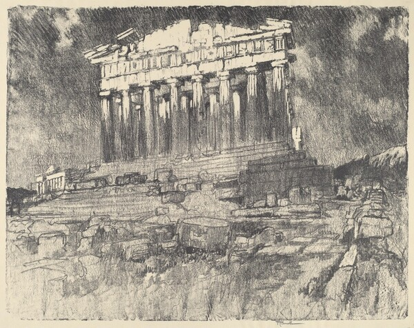 The Facade of the Parthenon, Sunset