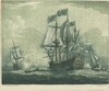 Shipping Scene with Man-of-War