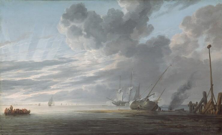 Shipwreck Art Mediterranean Coastal Print Stormy Ocean Seascape