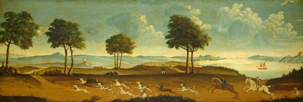 Hunting Scene with a Harbor