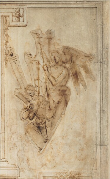 Two Angels Carrying Torches