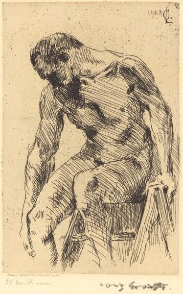 Sitzender Männlicher Akt (Seated Male Nude)