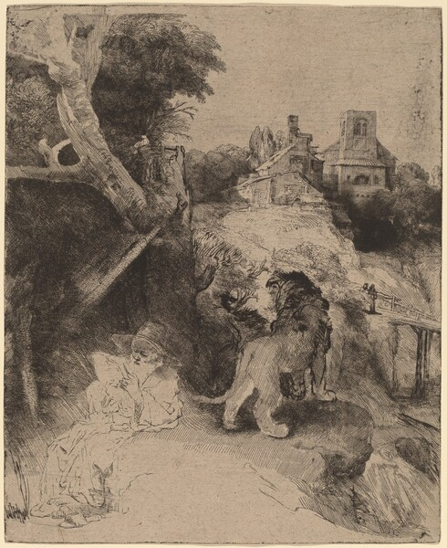 Saint Jerome Reading in an Italian Landscape
