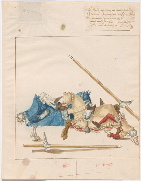 Freydal, The Book of Jousts and Tournaments of Emperor Maximilian I: Combats on Horseback (Jousts)(Volume I): Plate 49