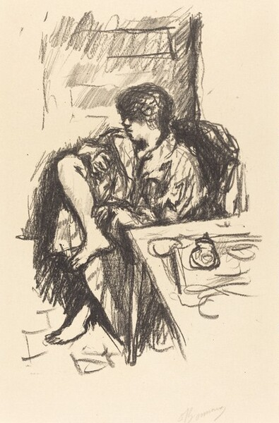 Woman Dressing, Seated (La Toilette assise)