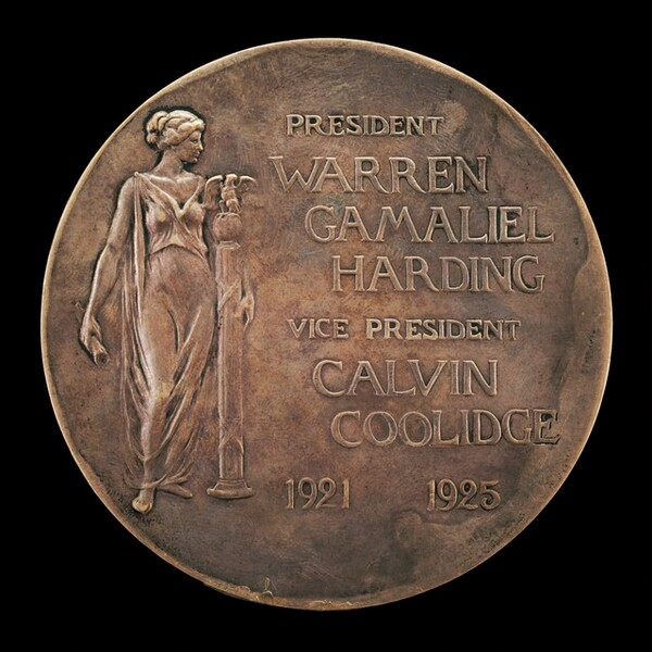 Warren G. Harding Inaugural Medal [reverse]