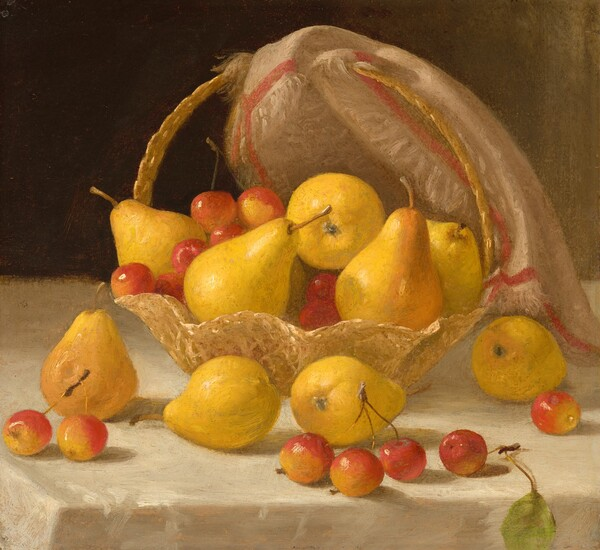 Basket of Pears and Crabapples
