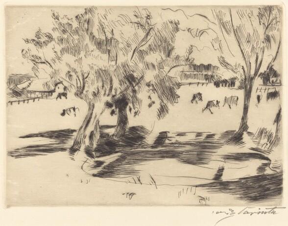 Landschaft mit Kühen (Landscape with Cows)