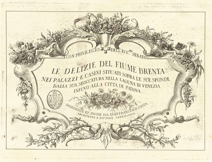 Giovanni Francesco Costa, Title Page, published 1762published 1762