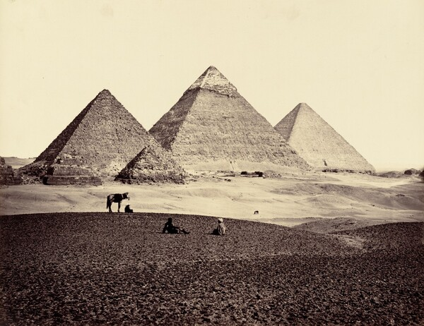 The Pyramids of El-Geezeh, from the South-West